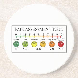 Diagramme médical d'outil d'évaluation de douleur dessous de verre