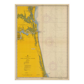 Diagramme nautique vintage Amelia Island St Poster