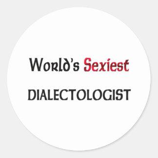 Dialectologist le plus sexy du monde autocollants
