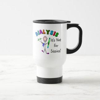 """Dialyse """"il n'est pas pour des poules mouillées """" mug de voyage en acier inoxydable"""