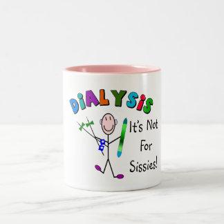 """Dialyse """"il n'est pas pour des poules mouillées """" mug bicolore"""