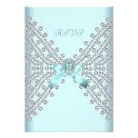 Diamant blanc argenté bleu turquoise de fête d'ann bristol