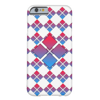Diamant bleu rouge 3D Coque Barely There iPhone 6