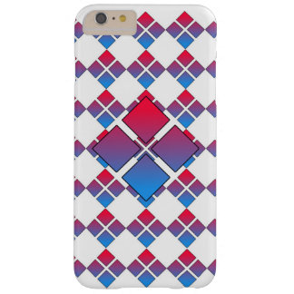 Diamant bleu rouge 3D Coque Barely There iPhone 6 Plus