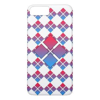 Diamant bleu rouge 3D Coque iPhone 7 Plus
