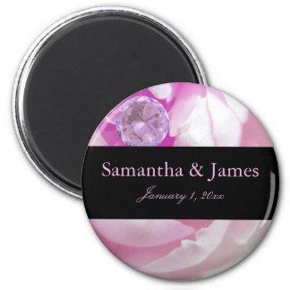 Diamant dans le mariage personnel de rose de rose aimant