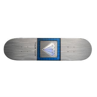 Diamant Métal-regard balayé Skateboards Personnalisés