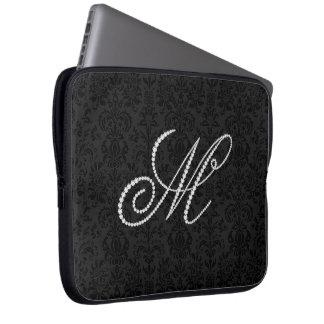 Diamant-Monogramme de scintillement élégant de la  Housse Ordinateur Portable