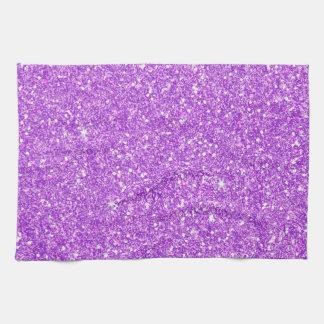 Diamant pourpre de luxe de scintillement serviette éponge