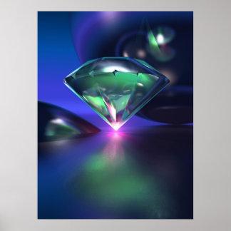 Diamant sur le pourpre poster