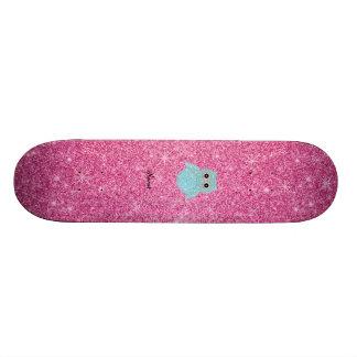 Diamants bling personnalisés de hibou de nom skateboards personnalisables