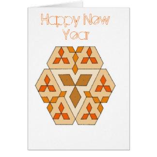 Diamants, bonne année - customisée carte de vœux