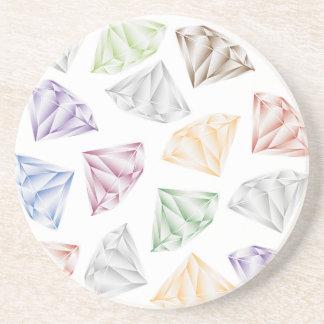 Diamants colorés pour mon chéri dessous de verres