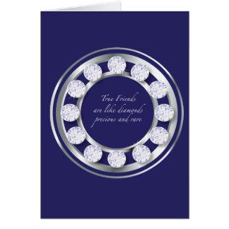 Diamants d'amitié carte de vœux