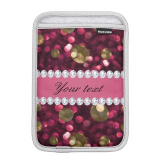 Diamants de Faux de Bokeh d'or de roses indien Housse Pour iPad Mini