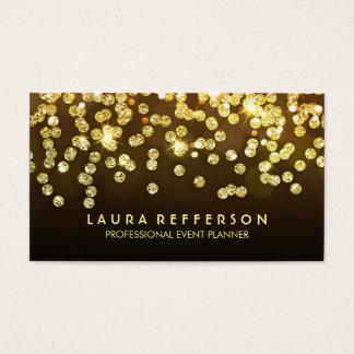 Diamants d'or - noir de confettis de feuille d'or cartes de visite
