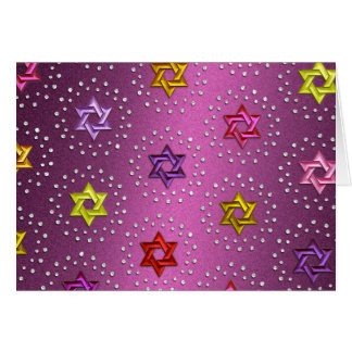 Diamants et carte argentée d'étoiles de David