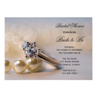 Diamants et invitation nuptiale de douche de