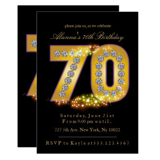 Diamants et or, soixante-dixième invitations