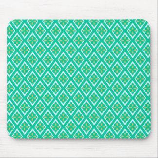 Diamants médiévaux - vert turquoise et aqua tapis de souris
