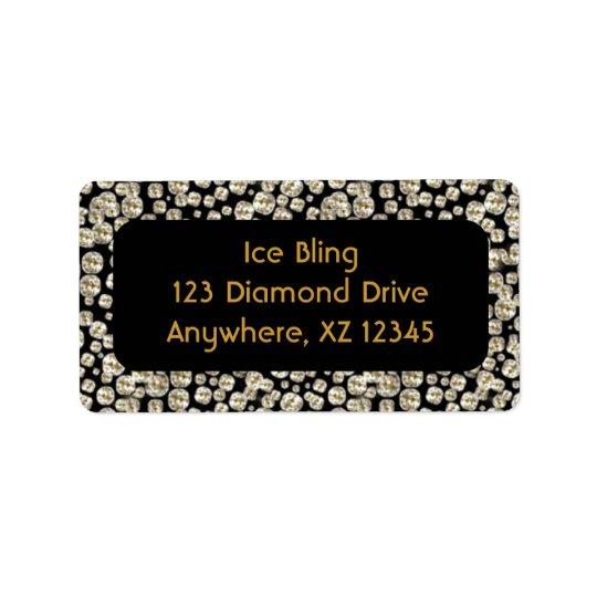 Diamants noirs étiquettes d'adresse