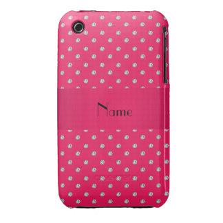 Diamants roses nommés personnalisés coques Case-Mate iPhone 3