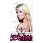 Diamants TTT-Parfaits de léopard de princesse rose Modèles De Cartes De Visite