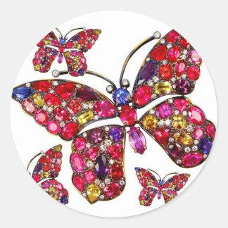 Diamants vintages de fausses pierres de bijouterie adhésifs ronds