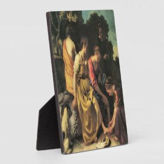 Diana et ses nymphes par Johannes Vermeer Impressions Sur Plaque
