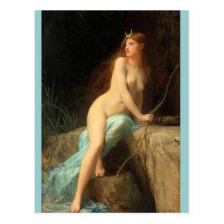 Diana - peintures vintages célèbres - Lefebvre Cartes Postales