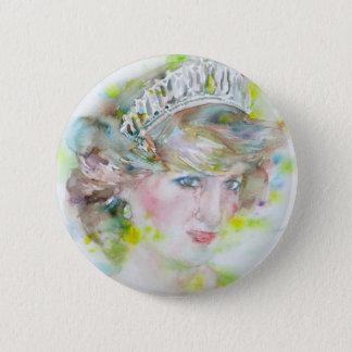 Diana, princesse du Pays de Galles - aquarelle Pin's