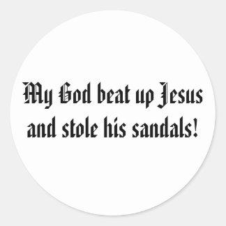 Dieu a battu Jésus Adhésif