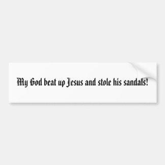 Dieu a battu Jésus Autocollant De Voiture