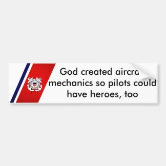 Dieu a créé des mécaniciens d'aviation autocollant de voiture