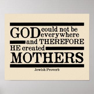 Dieu a créé des mères poster