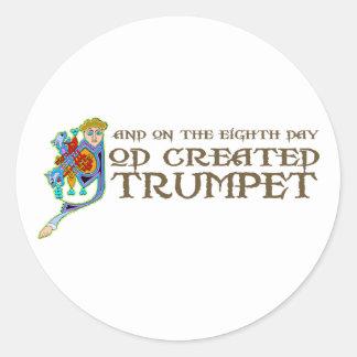 Dieu a créé la trompette adhésif rond