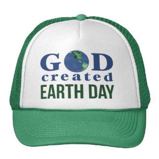 Dieu a créé le chapeau de jour de la terre casquettes de camionneur