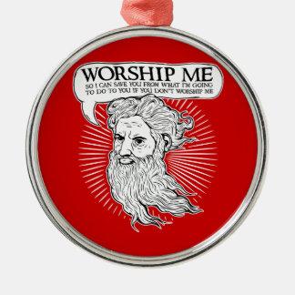 Dieu : Adorez-moi ainsi je peux vous sauver de moi Décorations De Noël