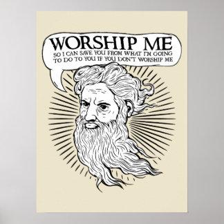 Dieu : Adorez-moi ainsi je peux vous sauver de moi Poster