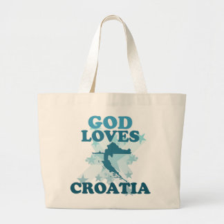 Dieu aime la Croatie Sacs De Toile