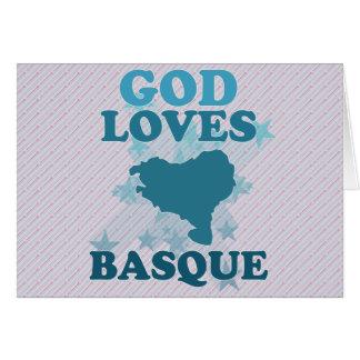 Dieu aime le basque carte