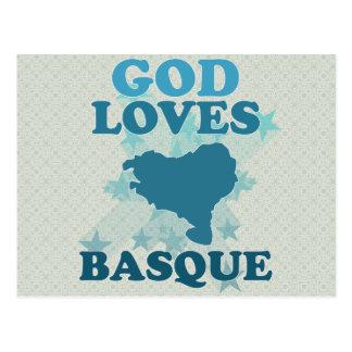 Dieu aime le basque carte postale