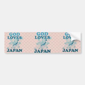 Dieu aime le Japon Adhésif Pour Voiture