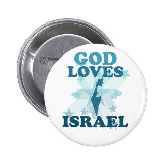 Dieu aime l'Israël Badges
