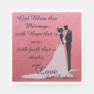 Dieu bénissent ce mariage serviettes jetables