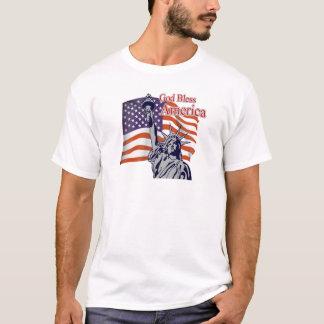 Dieu bénissent l'Amérique le T-shirt du 4 juillet