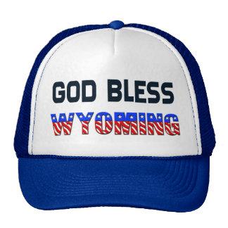 Dieu bénissent le Wyoming Casquette Trucker