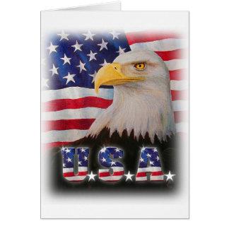 Dieu bénissent les Etats-Unis ! Carte De Vœux