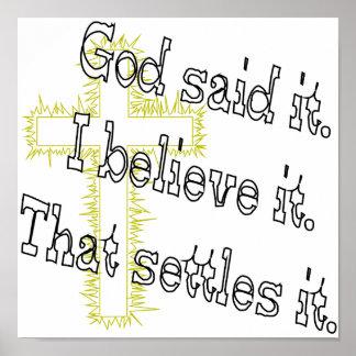 Dieu croisé a dit posters