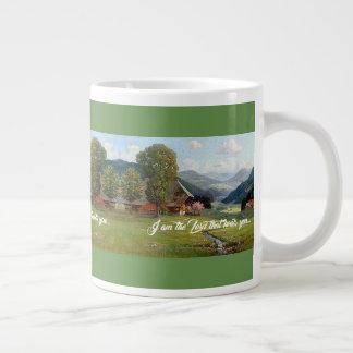 Dieu de courant de pré d'Alpes vous guérit tasse